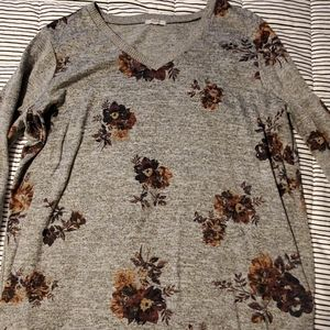 Maurices Floral Long Sleeve Sweater